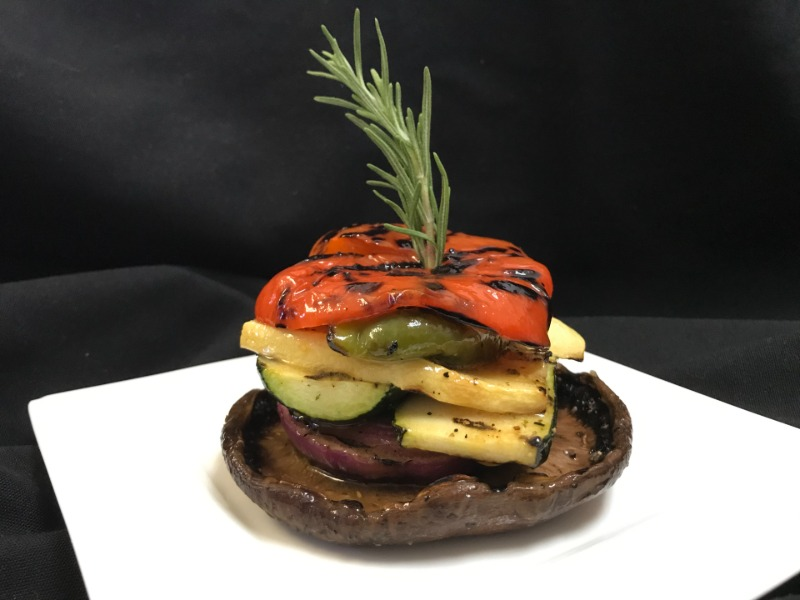 Grilled Vegetable Stack on Portobello