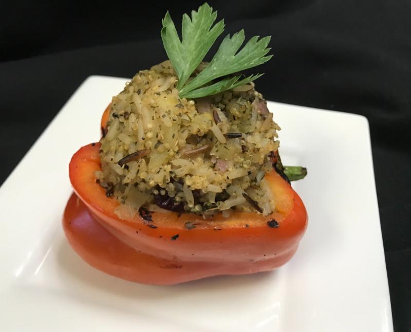 Quinoa & Wild Rice Stuffed Red Pepper Image