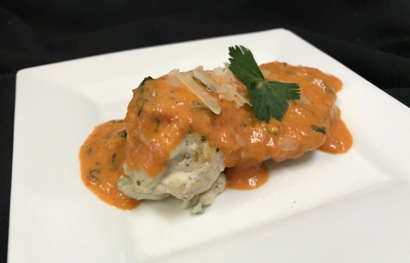 Parmigiano Stuffed Chicken Breasts Image