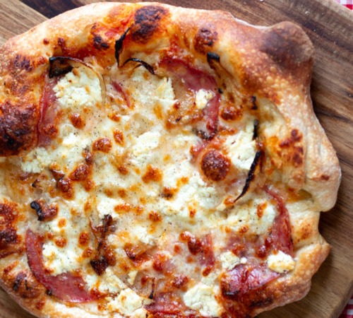 Salami & Cheese Pizza Image