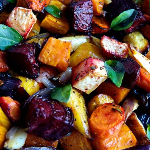 Winter Roasted Root Vegetables Image