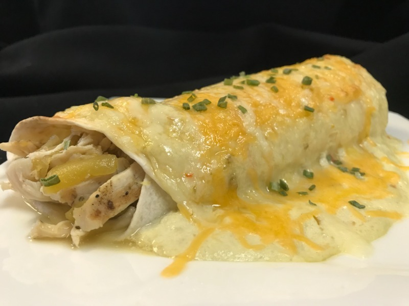 Green Chile Chicken Enchiladas Image
