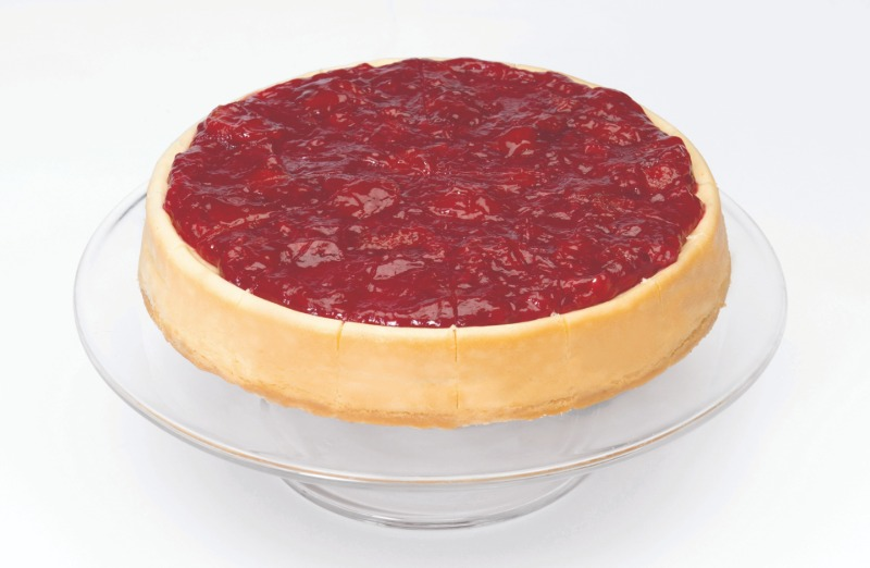 """9"""" Strawberry Topped Cheesecake (Frozen) Image"""