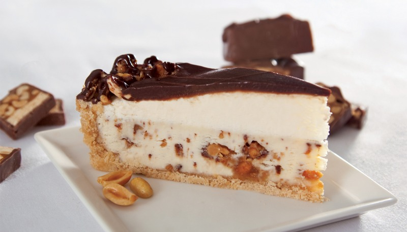 """9"""" Caramel Nougat Cheesecake Made with Snicker® (Frozen) Image"""