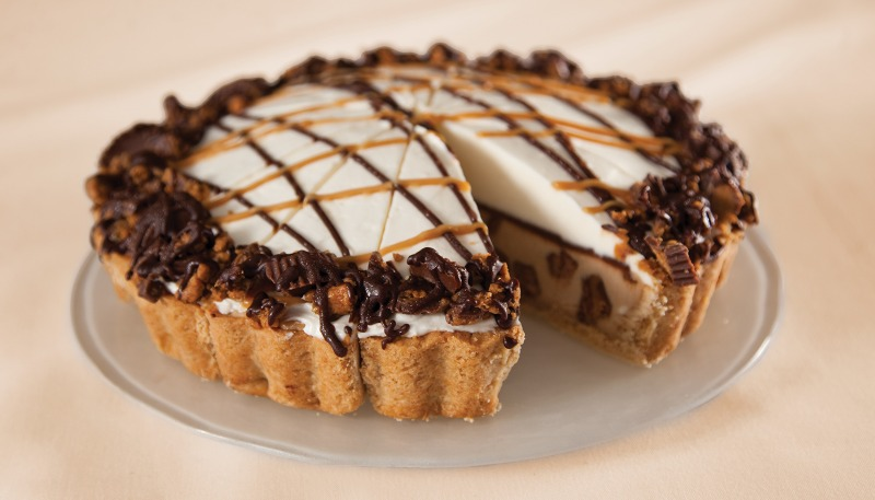 """9"""" Chocolate Peanut Butter Cheesecake Made with Reeses® (Frozen) Image"""