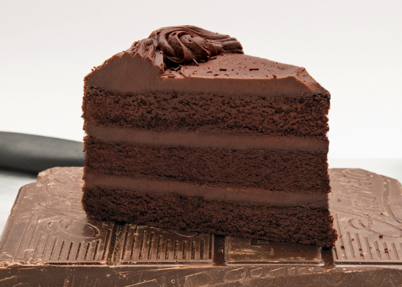 "10"" Old Fashioned Triple Chocolate Cake (Frozen) Image"