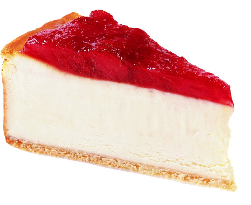 Cheesecake by the slice: Strawberry Topped Image