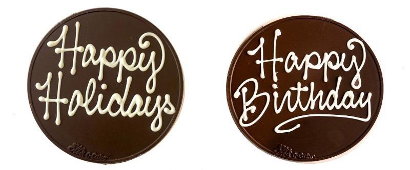 Celebratory Chocolate Discs Image