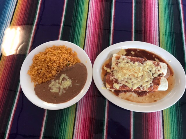 Choose Two Items with Rice and Beans Image