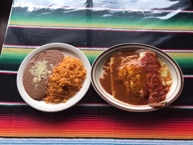 Choose Three Items with Rice and Beans Image