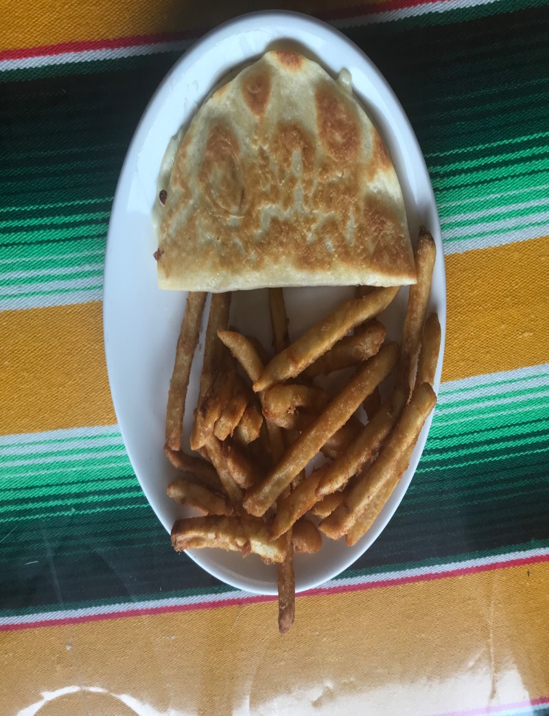 6) Cheese Quesadilla with Side Image