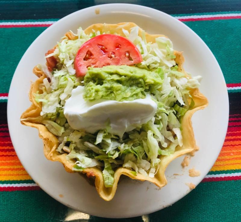 Grilled Vegetable Fajita Taco Salad