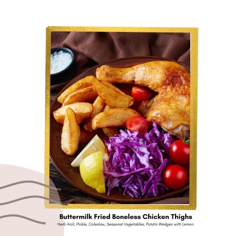 Buttermilk Fried Boneless Chicken Thighs Image