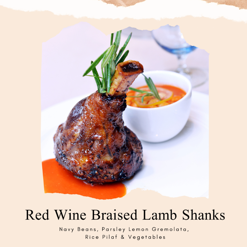 Red Wine Braised Lamb Shanks Image