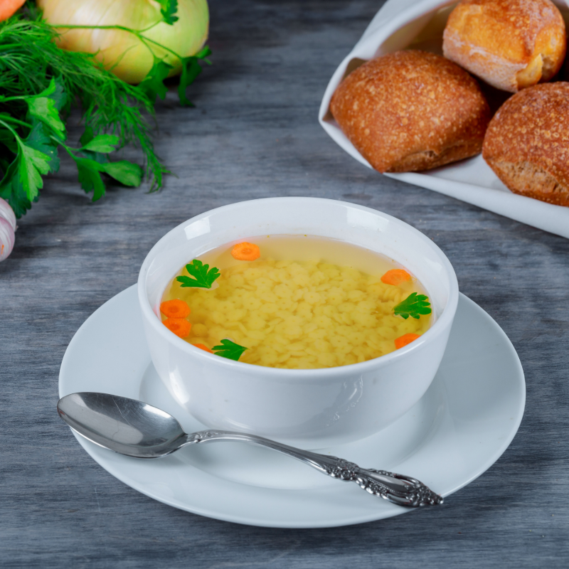 Bone Broth Chicken Noodle Soup with Vegetables Image