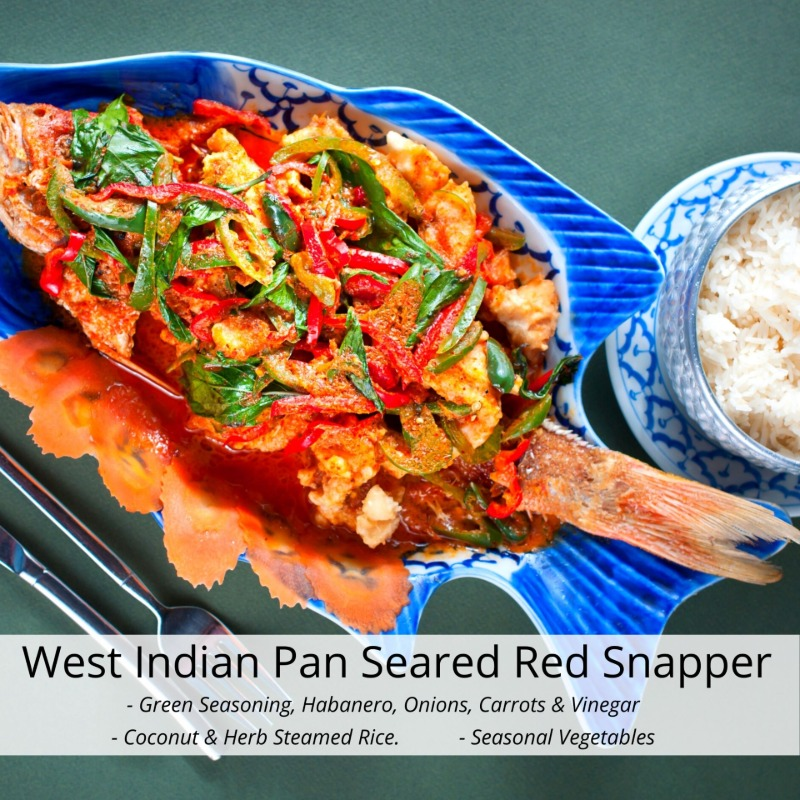 West Indian Pan Seared Red Snapper Image