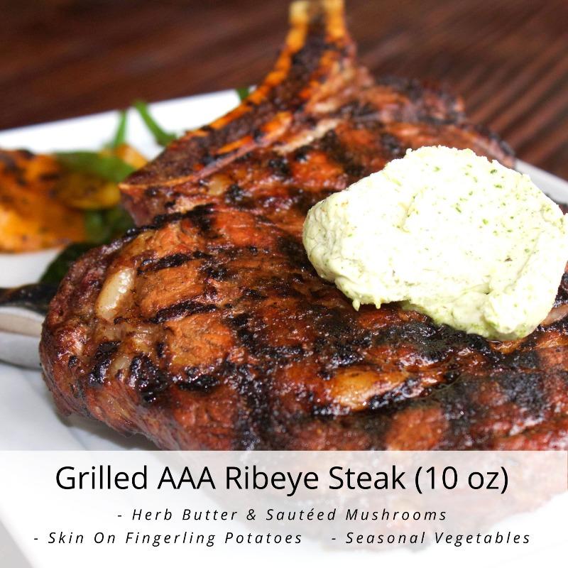 Grilled AAA Ribeye Steak (10 oz)
