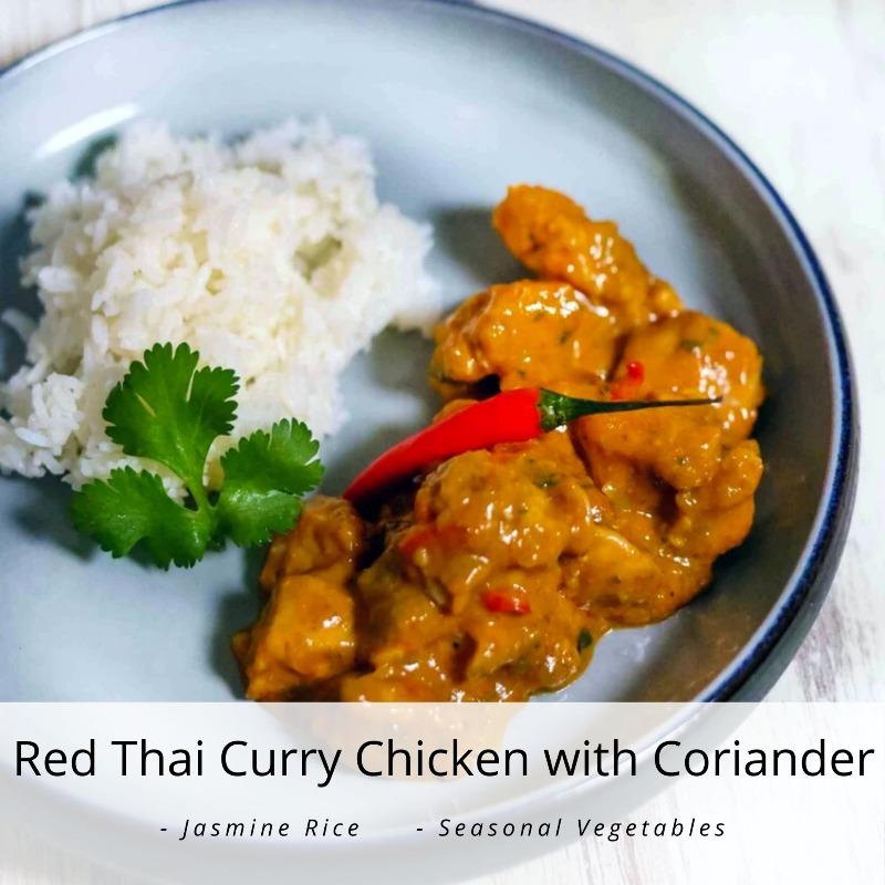 Red Thai Curry Chicken with Coriander