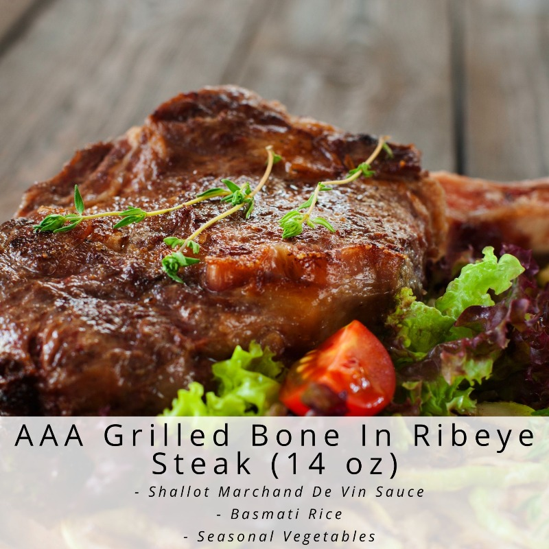 AAA Grilled Bone In Ribeye Steak  (14 oz) Image