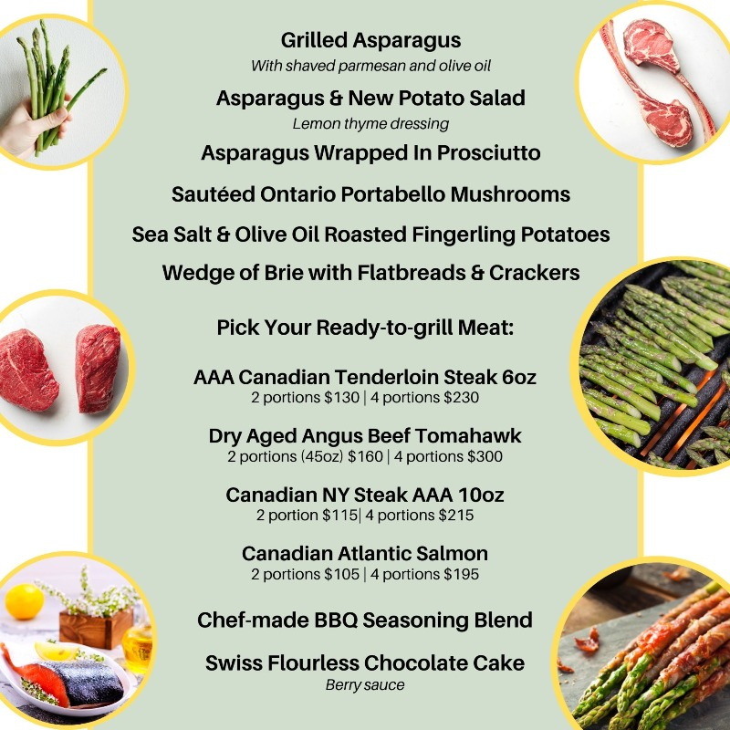 Ontario Asparagus & Canadian Beef Box