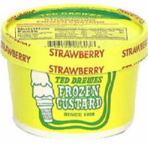 Ted Drewes Strawberry Mini