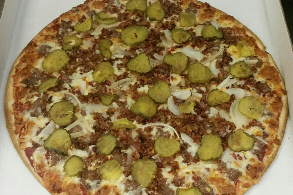 Elicias Cheeseburger Pizza Image