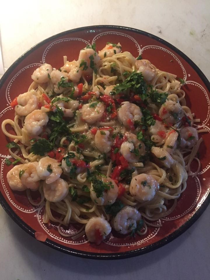 Shrimp Scampi over Linguini Image