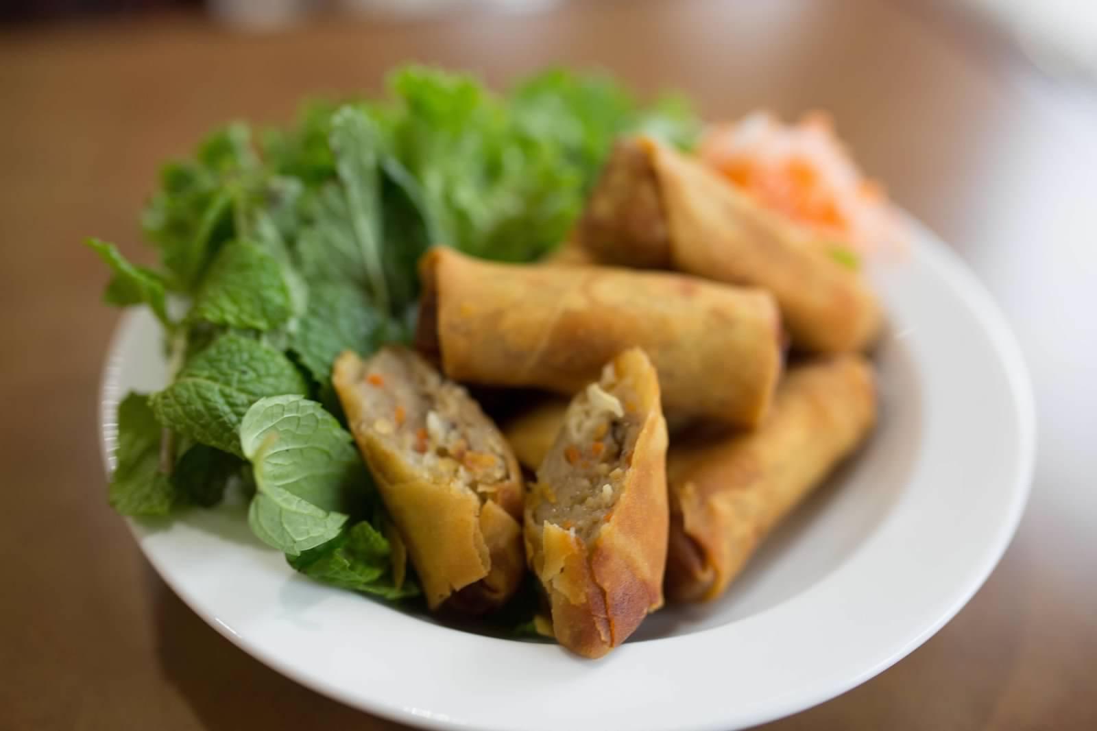 V1. Chả Giò (Vietnamese Shrimp & Pork Eggrolls) (6) Image