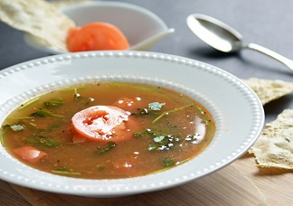 Vegetarian Tomato Rasam Soup Image