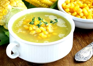 Vegetarian Sweet Corn Soup Image