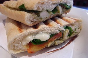 Chicken & Spinach Panini Image