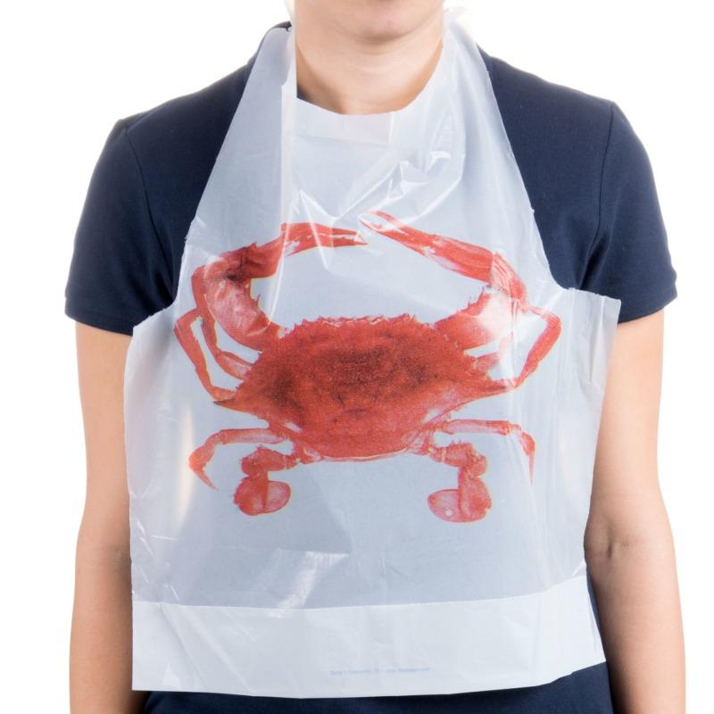 Plastic Bib with Crab Design Image