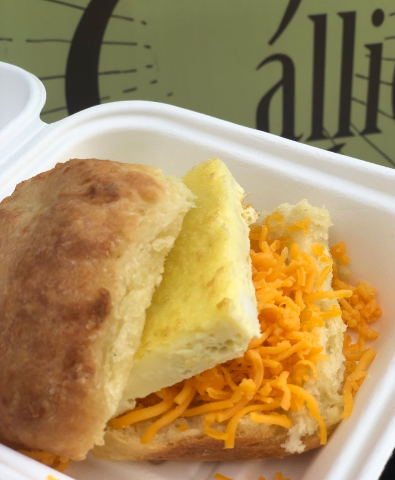 Egg and Cheddar Biscuit