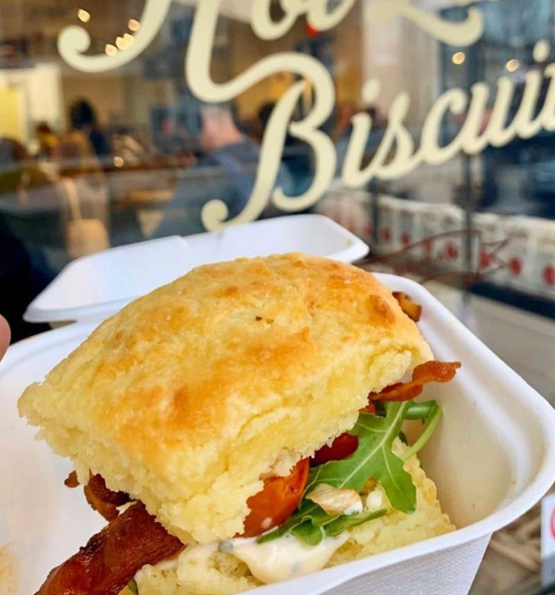 BLT Biscuit Sandwich Image
