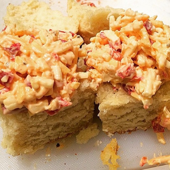 Pimento Cheese Biscuit Sandwich