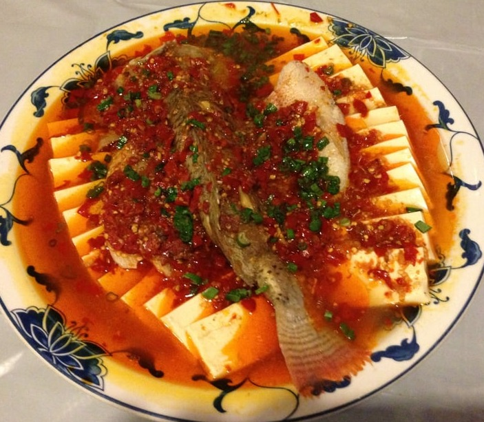 32. Steamed Whole Fish w. Homemade Chili Sauce 剁椒鱼 Image