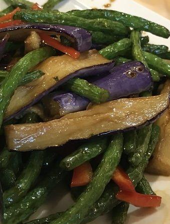 142. Sauteed String Bean w. Eggplant 四季豆烧茄子 Image