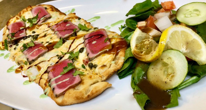 Seared Tuna Flat Bread