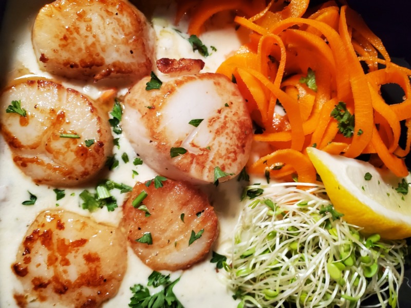 Seared Jumbo Scallops