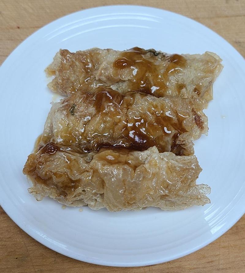 6. Bean Curd Wrap w/ Oyster Sauce (3)