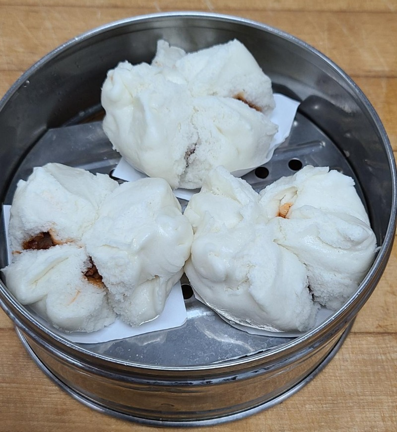 12. Steamed BBQ Pork Buns (3) Image
