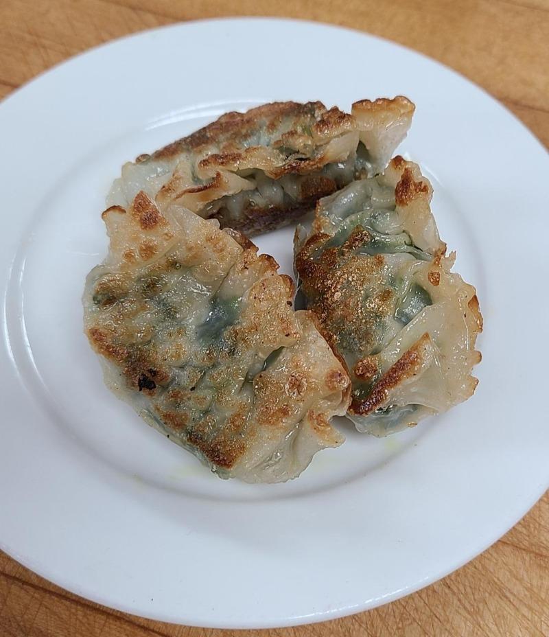 28. Pan Fried Shrimp, Pork & Chive Dumpling (Item B...3 pieces) Image