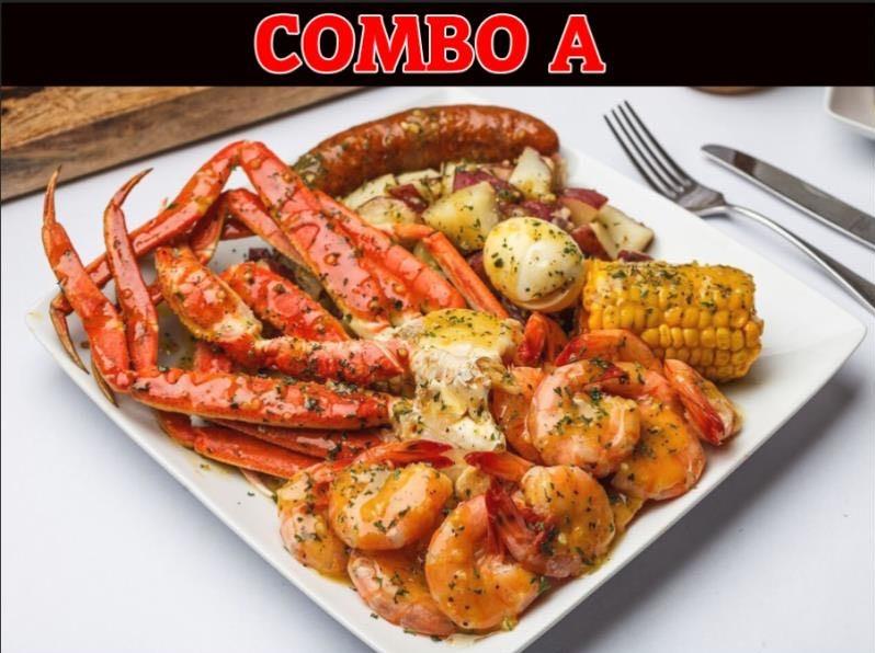 Combo A: Shrimps w. Crab Legs Image