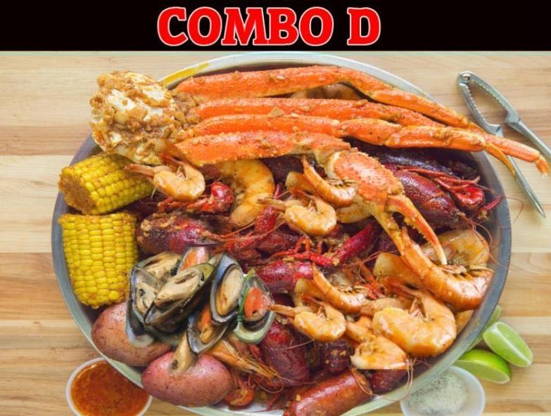 Combo D: Shrimp, Crawfish, Crab Legs & Green Mussels Image