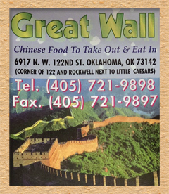 Great Wall - 122nd St, Oklahoma City