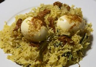 Gongura Egg Biryani