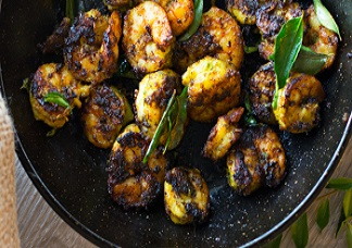 Curry Leaf Shrimp Image