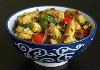 Curry Leaf Baby Corn Image