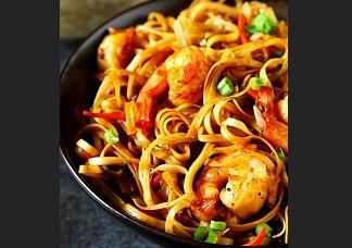 Schezuan Shrimp Noodles Image