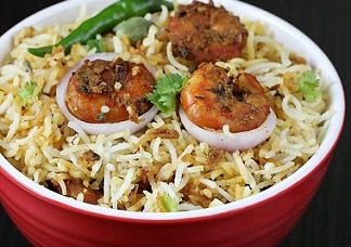 Shrimp Fry Biryani